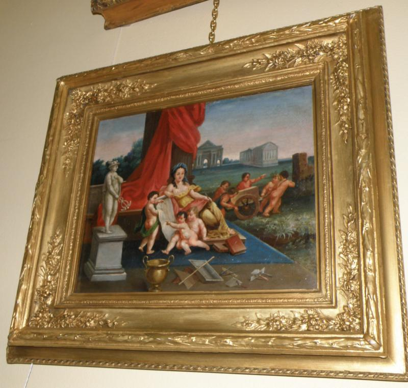 18th Century Allegorical oil on canvas painting