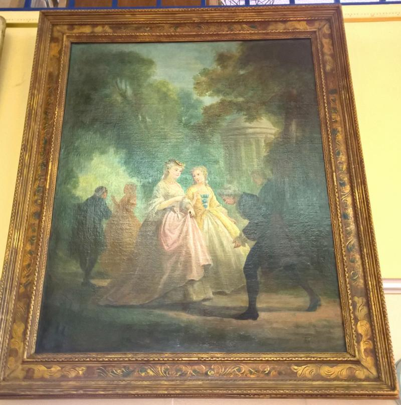 19th Century French Style Painting   Signed.