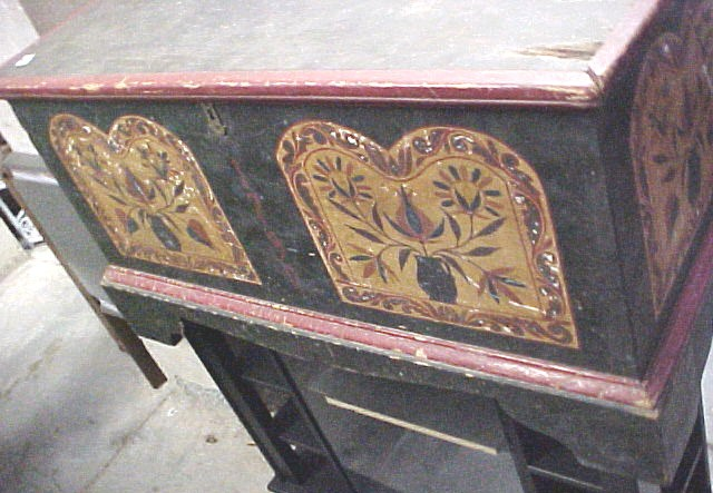 1790 Painted Pennsylvania Dutch Blanket Chest