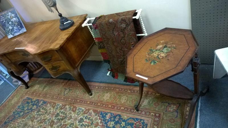A Fine Desk and Inlaid Classical Table