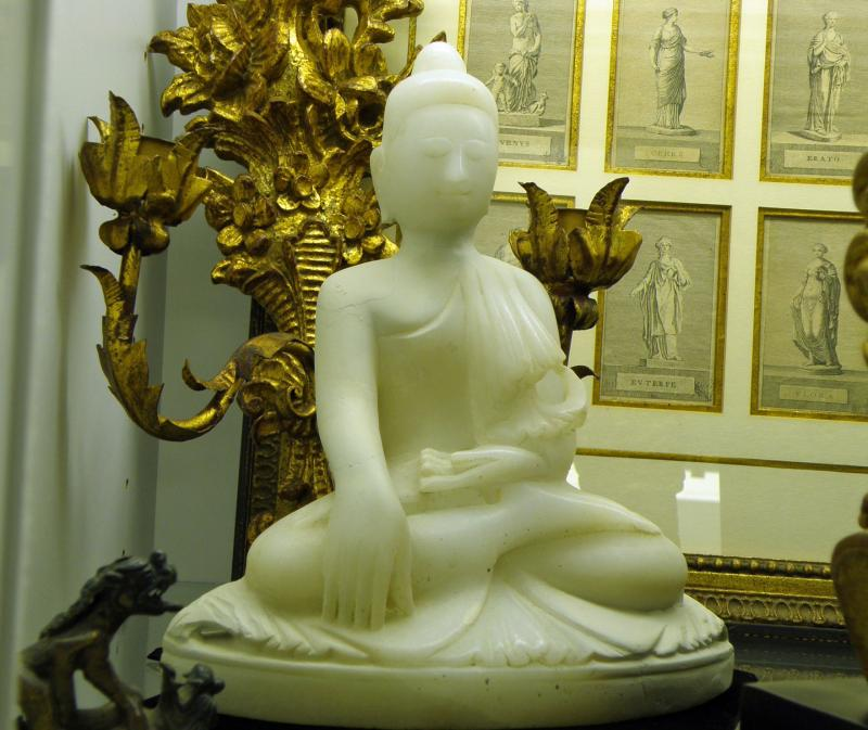 A Serene and Beautiful 19th Century Carved Buddha from Burma