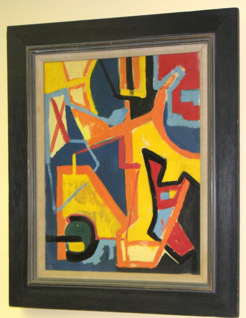 Abstract, oil on canvas, New York City Artist, Ca. 1940, 20 x 16