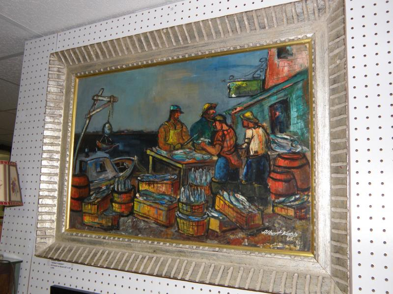 Albert Kapp  'Jersey Fishery'   oil on canvas