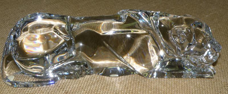 Signed Baccarat Crystal Panther