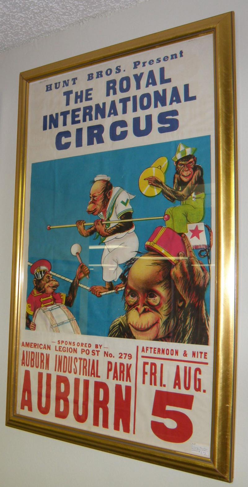 Circus Poster Hunt Bros., International