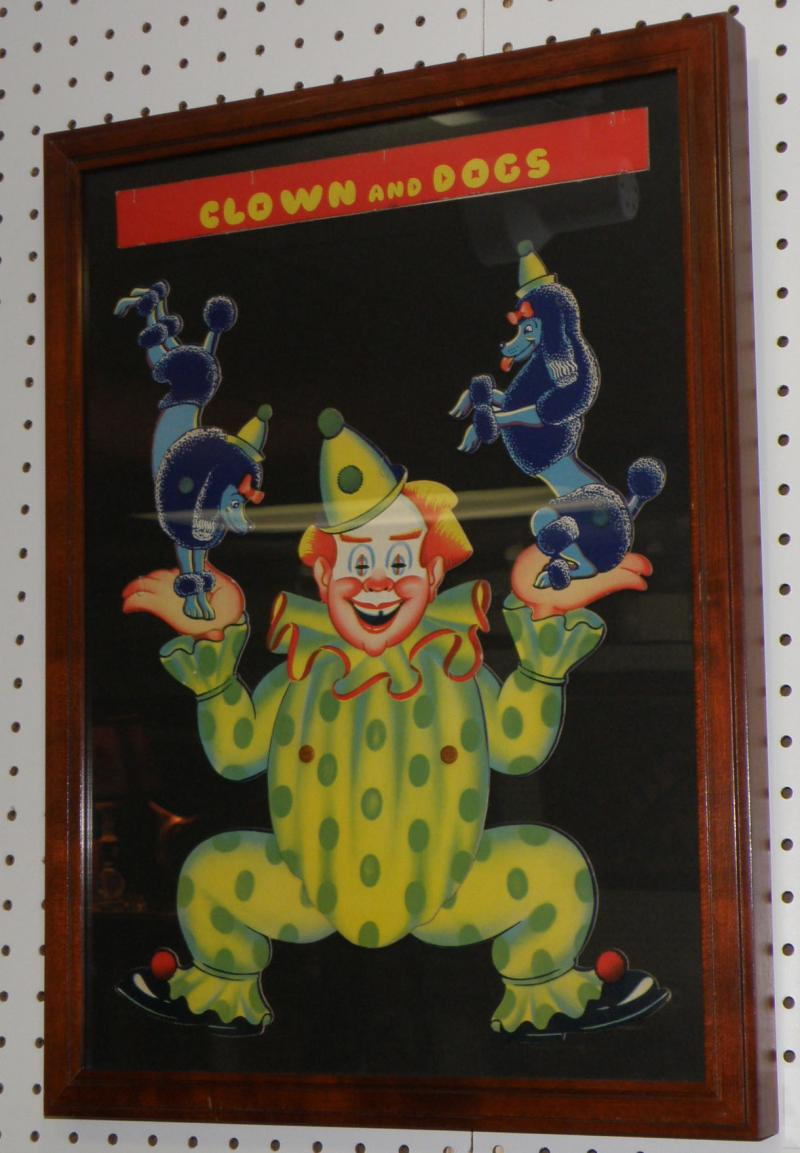 Circus 'Puppet' Clown and Dogs. Ca 1960