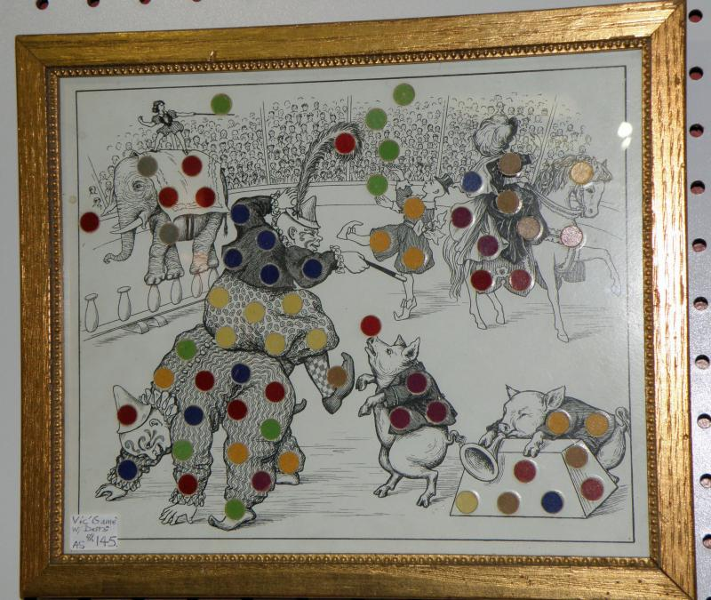 Circus Victorian  Game  with dots.