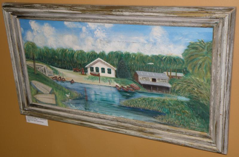 'Crow's Fish Camp - St. John's River'  Oil on Board  15 x 22  Signed 'Papa Horni