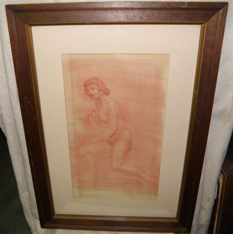 Female Nude signed Herbert S. Wyllie