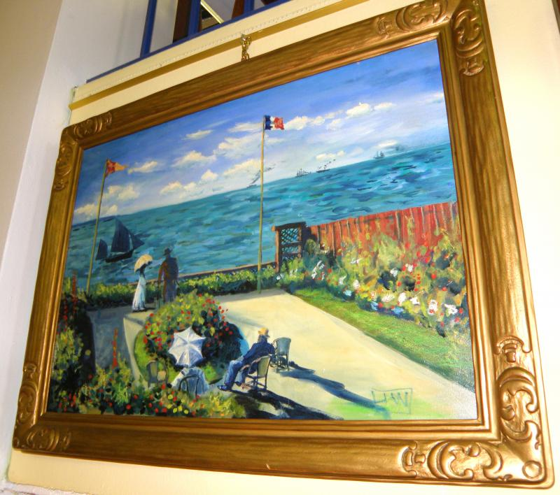 French Impressionist Oil on Canvas