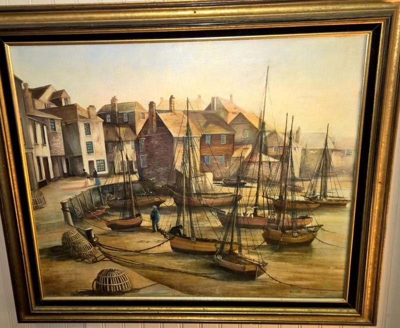 Joan Willies, RMS, Minaturist. Rare large painting