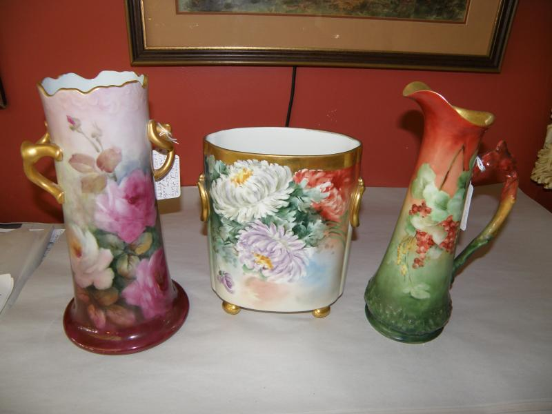 Limoges Pottery Vases
