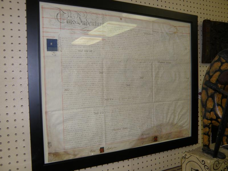May 20, 1804 Indenture with hand caligraphy, original blue tax stamp, 2 red wax