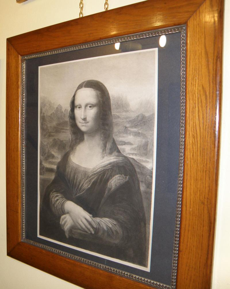 Original 19th Century etching by A. F. Dezarros after Leonardo de Vinci