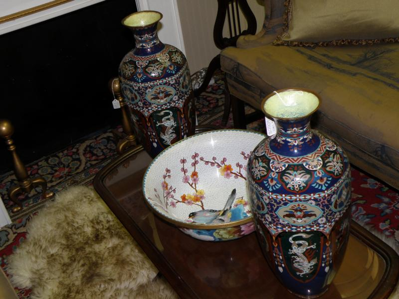 Pair of 19th Century Cloisonne Vases