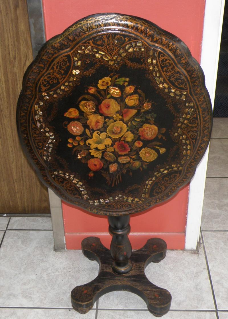 Papier Mache Tilt-top Table