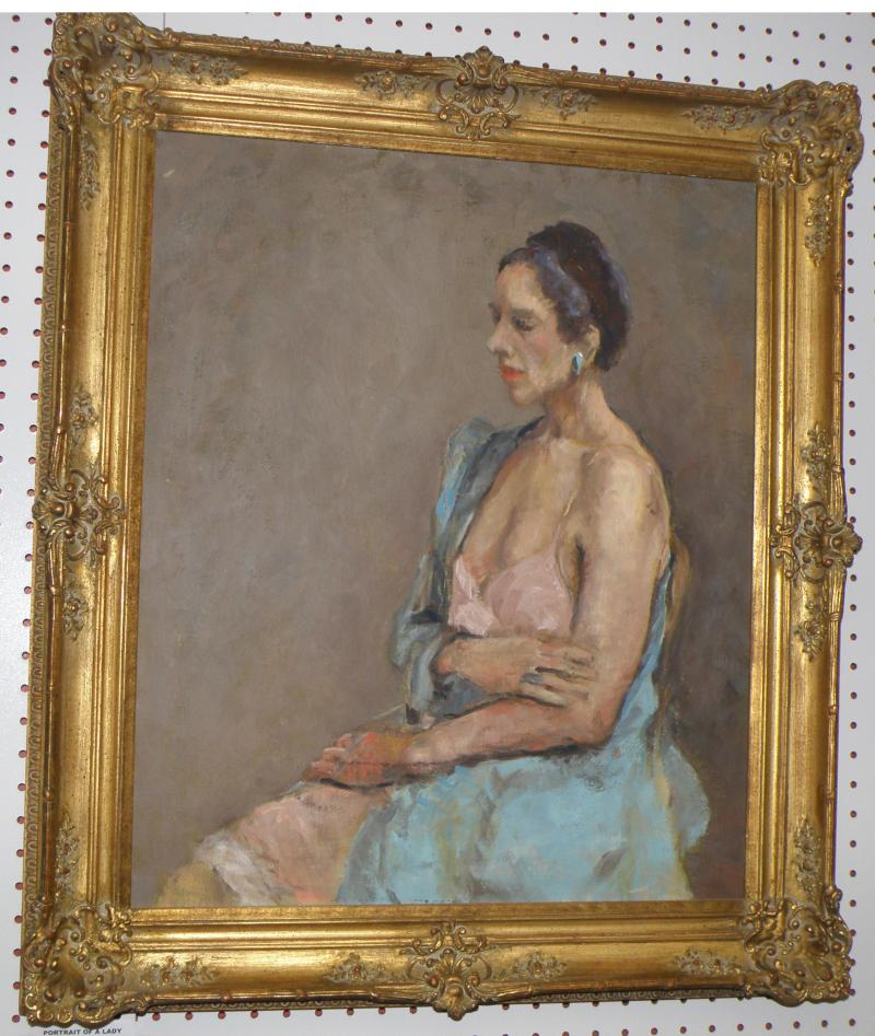 Portrait of a Lady, Oil on Canvas  24 x 20  by Veronica Lewis