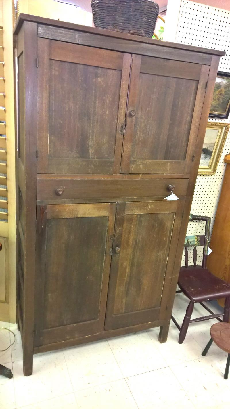Rare and Unusual Kitchen Cupboard including a pie safe -Florida settlers 1877