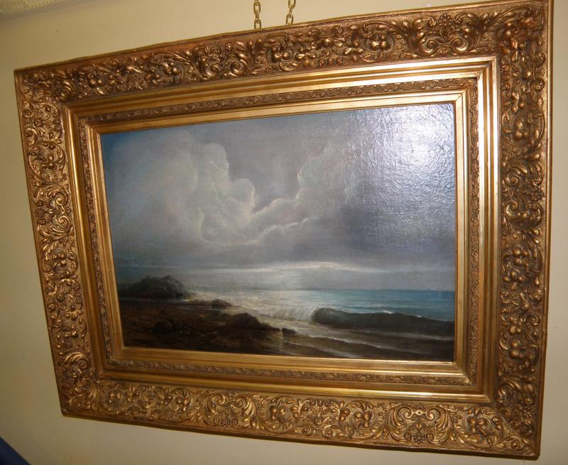 Seascape by William Frost Richards, American Artist