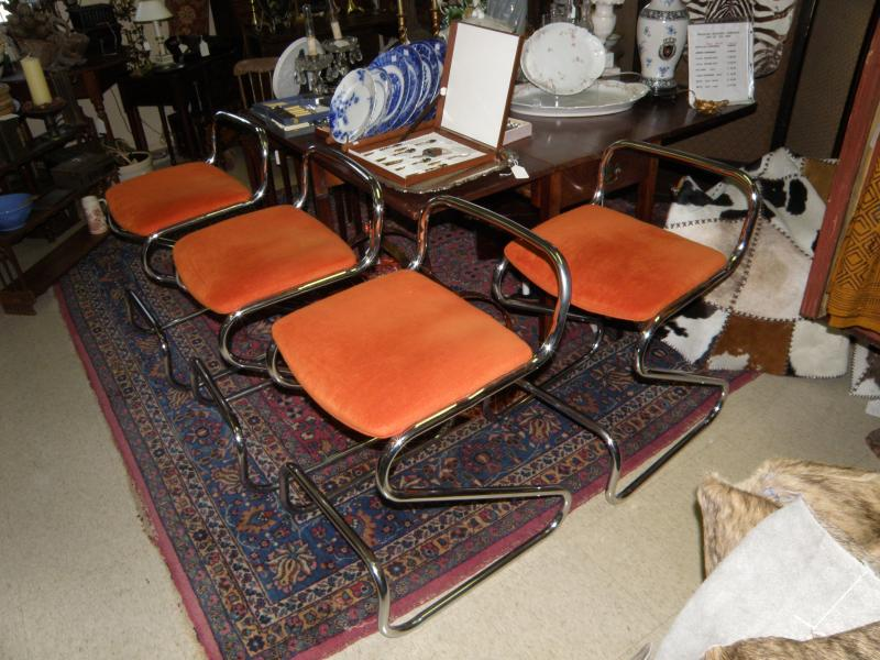 Set of 4 Mid Century Bar Stools