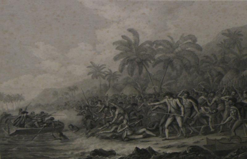 The Death of Captain Cook.  Cropped.
