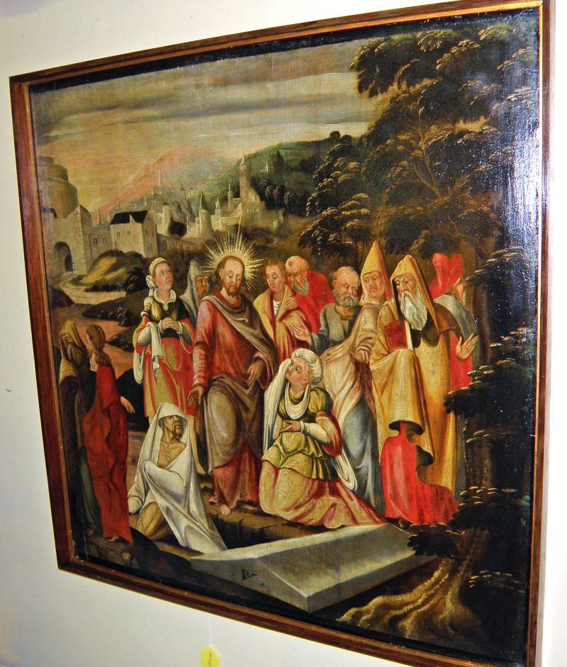The Raising of Lazarus, Bible Story, Old Master 17th Century Painting